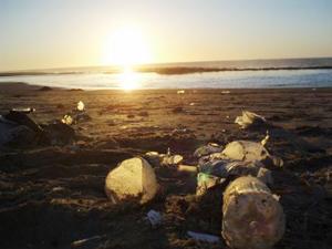 モロッコ・ラバト、大西洋に沈む夕日.jpg